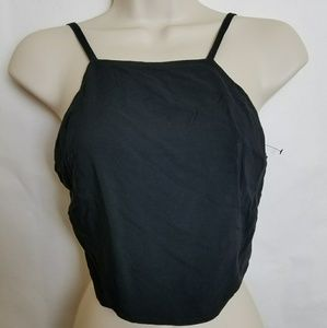 EXPRESS crop top square back tie